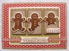 Maybe´s Card - The Gingerbread-Man from StampinUp ;-)