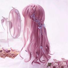 Kawaii Hairstyles, Pretty Hairstyles, Wig Hairstyles, Manga Hair, Anime Hair, Pastel Wig, Kawaii Wigs, Korean Hair Color, Lolita Hair