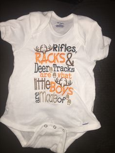 83b33f688 Deer Tracks, Rifles, Onesies, Baby Gifts, Gifts For Baby, Baby Onesie, Baby  Presents, Baby Overalls
