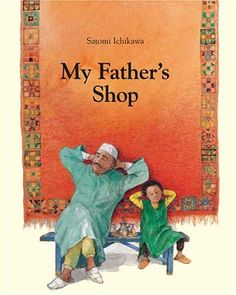 My Father's Shop, by Satomi Ichikawa, tells the story of Mustafa, a little Moroccan boy who helps his father run a rug shop.  As he sells his wares, the father speaks in other languages, reminding Mustafa how important it is to learn more than one. Mustafa is resistant, but ends up learning how to accidentally speak rooster in five languages. This witty tale is sure to bring a smile to any reader.
