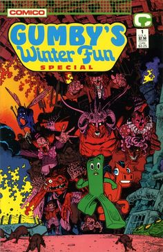 Gumby's Winter Fun Special cover by Art Adams