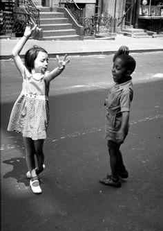 Unidentified children; photo by Henri Cartier-Bresson
