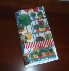 Spring Flower Square Fabric Napkins Set of Four #Unbranded