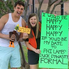 Duck Dynasty Formal - ways to ask your date