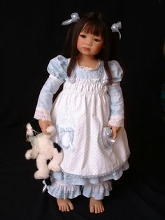 One of my handmade dress designs for AiLien, an artist doll by Annette Himstedt.