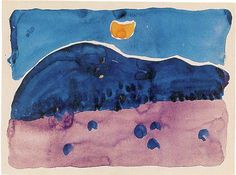 Georgia O'Keeffe Watercolor Paintings Woman | Georgia O'Keeffe and Palo Duro Canyon State Park