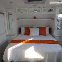 Queen bed in Overland Caravan Caravans, Queen Beds, Gold Coast, Range, Furniture, Design, Home Decor, Cookers, Decoration Home