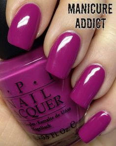 OPI: Dim Sum Plum....I can't stop wearing this color.  I have never gotten so many compliments on my nails! toes look great too*