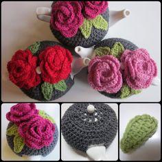 Crochet Rose Tea Cozy with Free Pattern