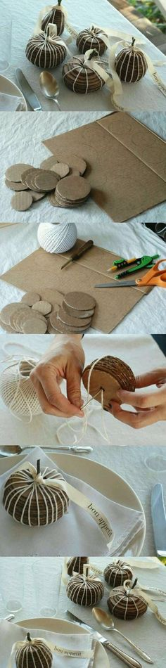 DIY Fruit of Cardboards diy diy ideas diy crafts do it yourself crafty Fall Crafts, Halloween Crafts, Decor Crafts, Holiday Crafts, Diy And Crafts, Christmas Crafts, Crafts For Kids, Christmas Decorations, Diy Decoration