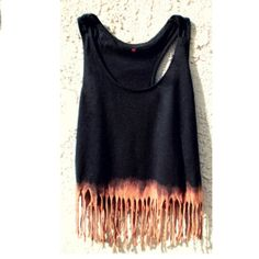 I really wanna try&make this! Dip dyed fringe tank top. Wish me luck