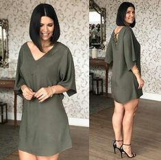 New Style Feminino Gordinha Ideas - Womens Fashion - DIY & Crafts Simple Dresses, Casual Dresses, Casual Outfits, Fashion Dresses, Summer Dresses, Street Casual Men, Ray Ban Styles, Mode Style, Sweater Fashion