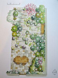Garden plan for planning a scented garden #gardening