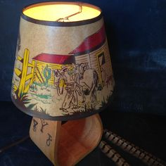 Charming 1950s child's cowboy lamp with by MilkweedVintageHome, $55.00