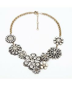 Crystal Cluster Snow works Necklace