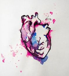 watercolor heart tattoo - i need this Watercolor Heart Tattoos, Art Watercolor, Simple Watercolor, Hipster Vintage, Style Hipster, Silhouette Tattoos, Beste Freundin Tattoo, Bright Tattoos, Pink Tattoos