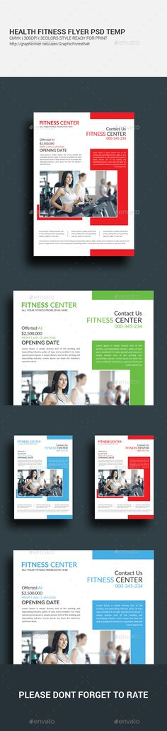 Fitness Flyers Bundle  Fonts And Flyer Template