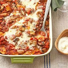Weeknight Ravioli Lasagna with Chianti Sauce From Better Homes and Gardens, ideas and improvement projects for your home and garden plus recipes and entertaining ideas.