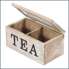 Fa teás doboz (kicsi) ― Hepi otthon