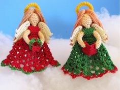 Whether you're after a new ornament for yourself or want to make one for someone, these crochet angel ornaments are too sweet to pass up