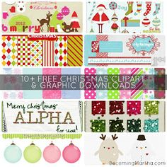Becoming Martha: {5+5 Friday} 10+ Free Clipart Downloads for Christmas
