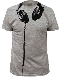 Headphones Heather Gray Costume T-Shirt *Click image to check it out* (affiliate link)