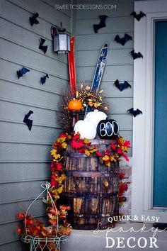 Quick and Easy Spooky Entryway by @Courtney O'Dell #spookyspaces