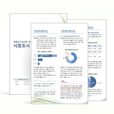 Market Research Reports - word template cover + sample + ppt (시장조사보고서 - 워드템플릿…