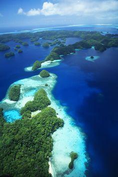 ✮ Micronesia, Palau, Rock Islands, aerial