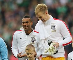 Ashley Cole with England team.