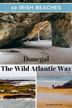 Donegal on the Wild Atlantic Way of Ireland is home to many of Ireland's best beaches. From Blue Flag swimming beaches to wild surfing via @https://www.pinterest.com/xyuandbeyond/