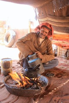 Tea Time #desert of #wadi #rum #jordan #bedouin #tea #sand #camel #arabic