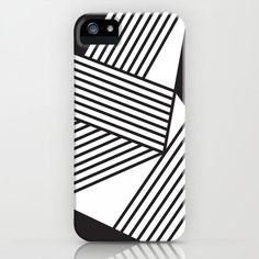 Fresh From The Dairy: Black and White Stripes in technology style fashion art Category