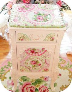 Pink flowery chest