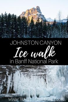 Ice Walk In Johnston Canyon Is Truly Winter Wonderland Of Canadian Rockies. Look at The Pictures To See Yourself. Johnston Canyon Banff National Park Canada Canadian Rockies What To Do In Banff Winter Activities In Banff Winter In Banff Quebec, Montreal, Canadian Travel, Canadian Rockies, Canadian Winter, Vancouver, Toronto, Alberta Canada, See Yourself