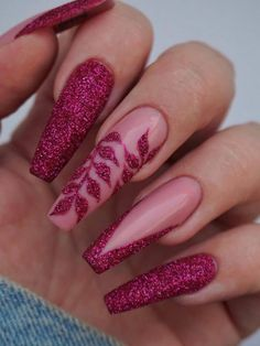 autumn nails ideas Nagelideen Glitter Vegas Hydroponics - Growing Without Soil Arti Nail Design Glitter, Glitter Nail Art, Summer Acrylic Nails, Best Acrylic Nails, Acrylic Nails Coffin Glitter, Dope Nails, Swag Nails, Pink Nails, My Nails