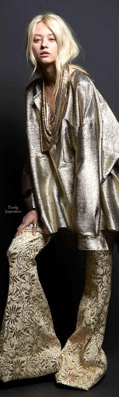 Glitter Grunge: Faith Connexion Fall 2015 Ready-to-Wear Fashion Show Gold Fashion, 70s Fashion, High Fashion, Fashion Show, Autumn Fashion, Womens Fashion, Fashion Design, Fashion Trends, Fashion Weeks