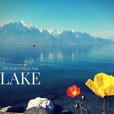 Life is better at the lake // La vie est encore plus belle au bord du lac. (c) Ronny Perraudin #montreuxriviera #lakegeneva #lacleman Vevey, Plus Belle, Mountains, Instagram Posts, Nature, Travel, Life, Lake Geneva, Tourism