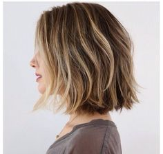 dirty blonde, short hair, bob, beachy waves #ad