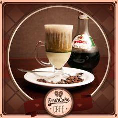 Café com licor de menta.