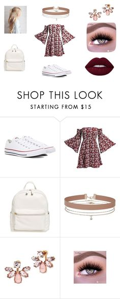 """""""Escola_05"""" by lara-schwenne007 ❤ liked on Polyvore featuring Converse, Gabriella, BP., Miss Selfridge and Marchesa"""