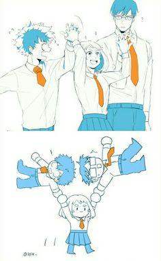 Boku no Hero Academia || Uraraka Ochako, Tenya Lida, Midoriya Izuku, #mha