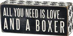 Item # 24983   Box Sign - Boxer   Primitives by Kathy