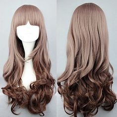 Lolita Wig Inspired by My Little Sweet Gradient Brown 60cm Casual - USD $ 12.59