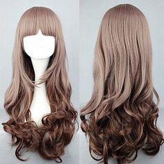peruca lolita inspirado por minha inclinação pouco doce marrom 60 centímetros ocasional – BRL R$ 42,74