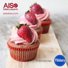 Cupcakes elaborados con premezclas Pillsbury.
