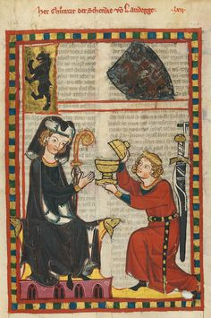 Codex Manesse, fol. 205r, 1305-1340, Zürich.