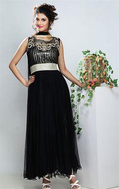 Picture of Aesthetic Black Party Wear Salwar Kameez