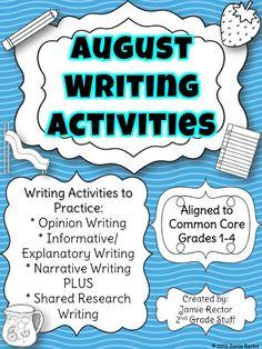 2nd Grade Stuff: August Common Core Writing Activities