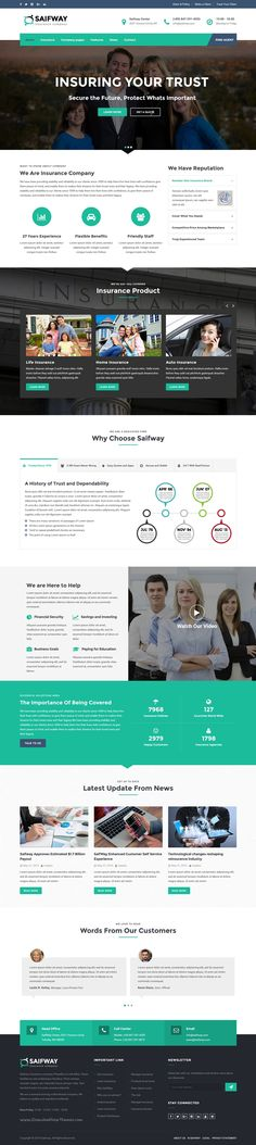 Saifway is a clean and professional 6 in 1 #WordPress #theme specially designed for #financial and insurance business website download now➝ https://themeforest.net/item/saifway-insurance-agency-wordpress-theme/16293623?ref=Datasata